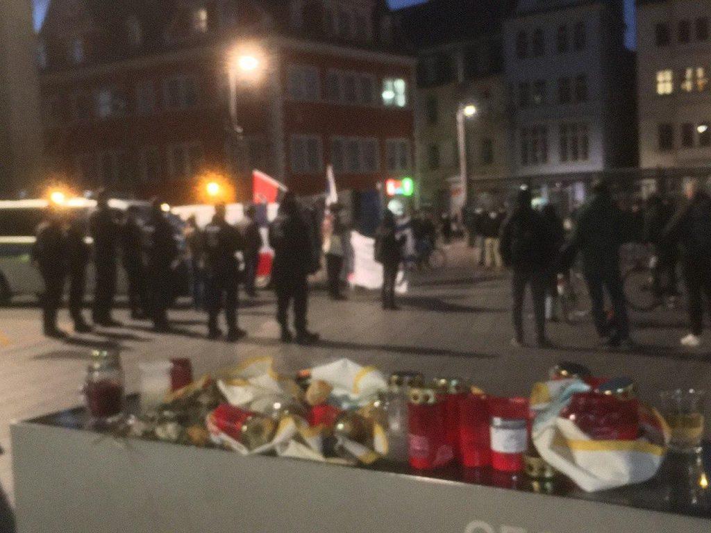 """Kundgebung """"Nieder mit dem Islamismus"""" (04.11. Halle/Saale)"""